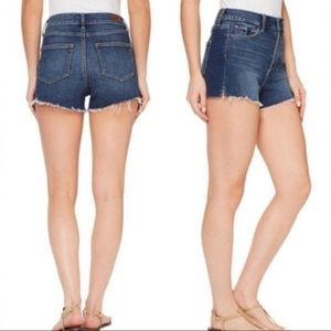 Paige Margot shorts. High waisted dark shorts